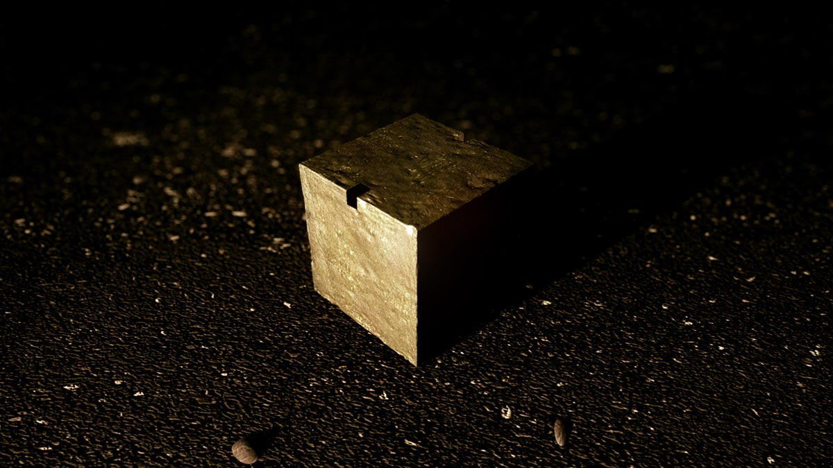 A cube of uranium in a scene from PANDORA'S PROMISE.  Photo: Robert Stone